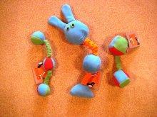 Игрушки OSSO из флиса с пищалками.