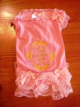 Нарядное кружевное платьице для мелких собак, цена 620 руб. Еще есть желтого цвета.
