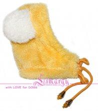 Забавная теплая шапочка для мелких и средних пород, цвет желтый. Цена 420 руб.