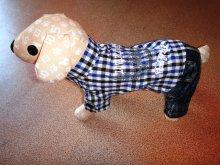 Джинсовый летний костюм для мелких собак. Есть еще с красной рубашкой. Цена 980 руб.