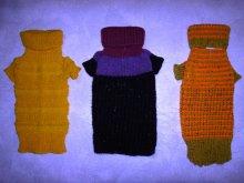 Нарядные свитерки с блёстками и пайетками для мелких собак и кошек, ручная вязка.